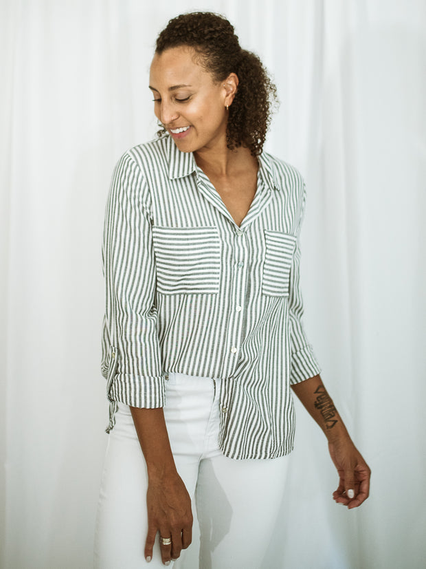 The Striped Boyfriend Shirt
