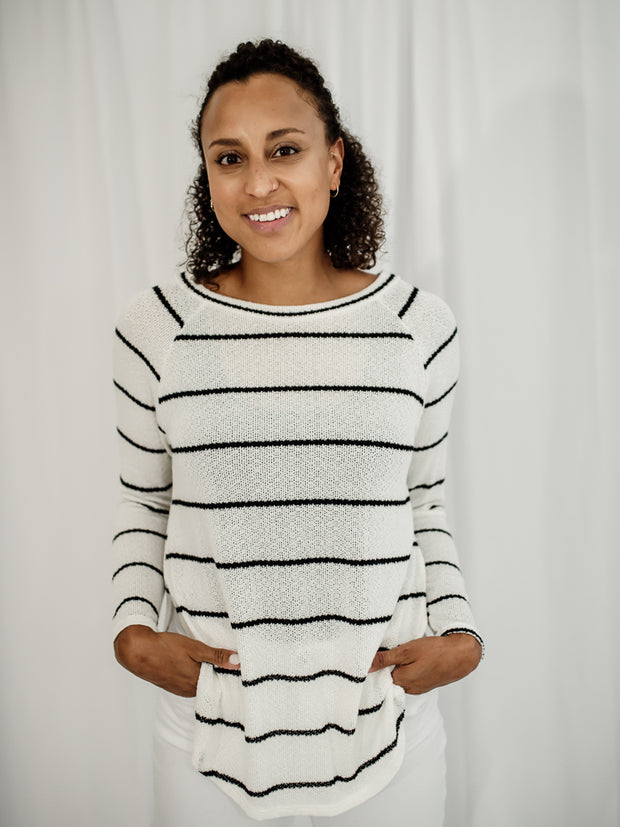 Everyday Long Sleeve Striped Top