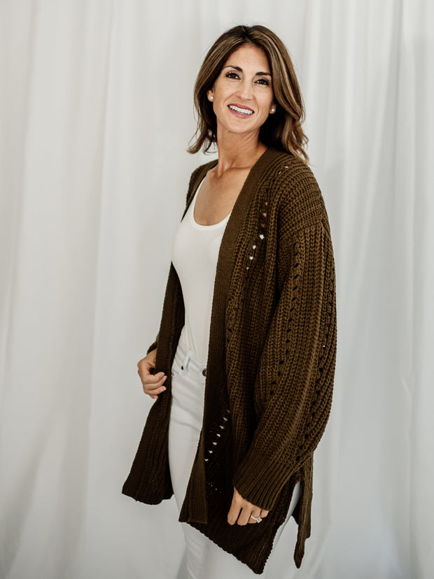 Tobey Chunky Knit Pocket Cardigan