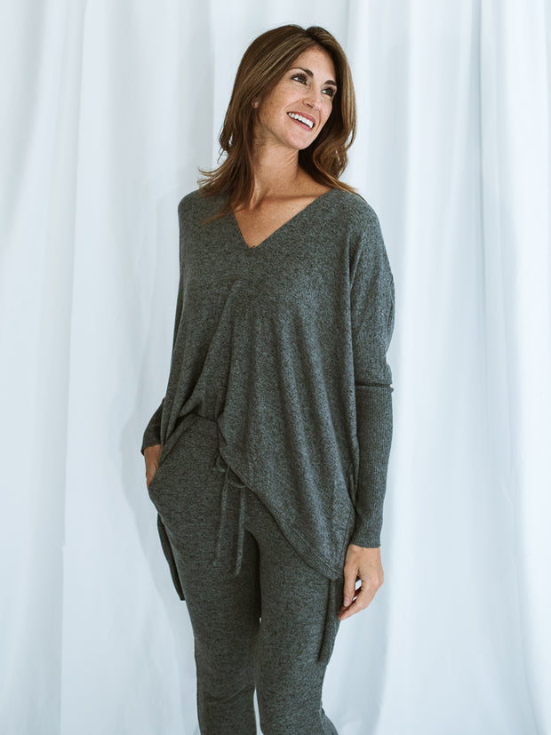Layla Oversized Brushed Tunic - Cloth + Cabin
