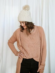 Holly Cropped Chenille Sweater