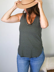Everyday Striped V-Neck Tank Top - Cloth + Cabin
