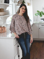 Quinn Dalmation Print Blouse - Cloth + Cabin