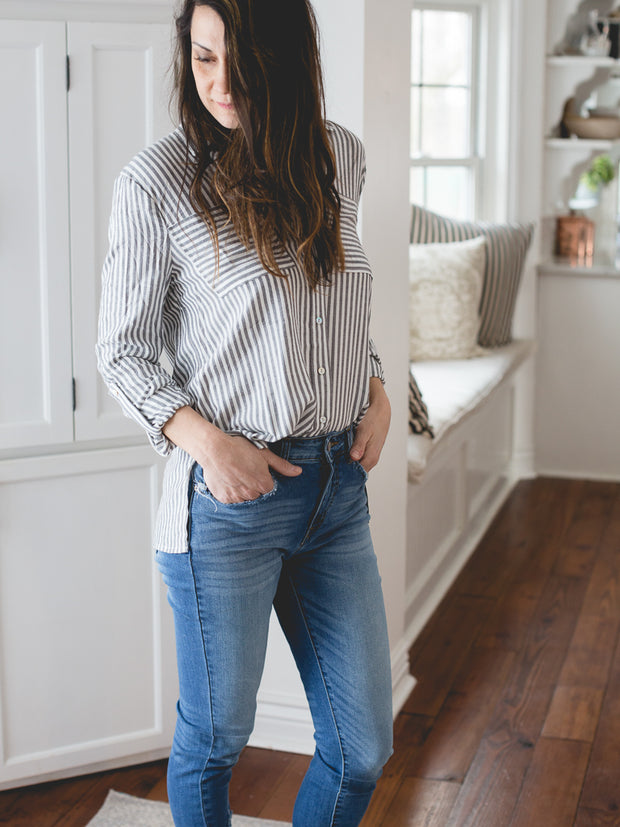 Katy Button Up Top - Cloth + Cabin