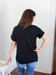 Everyday Black V-Neck Tee - Cloth + Cabin