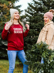 Cheers Season Wide Neck Sweatshirt