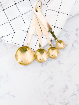 Gold Measuring Spoons - Cloth + Cabin