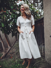Charlotte Button Down Dress - Cloth + Cabin