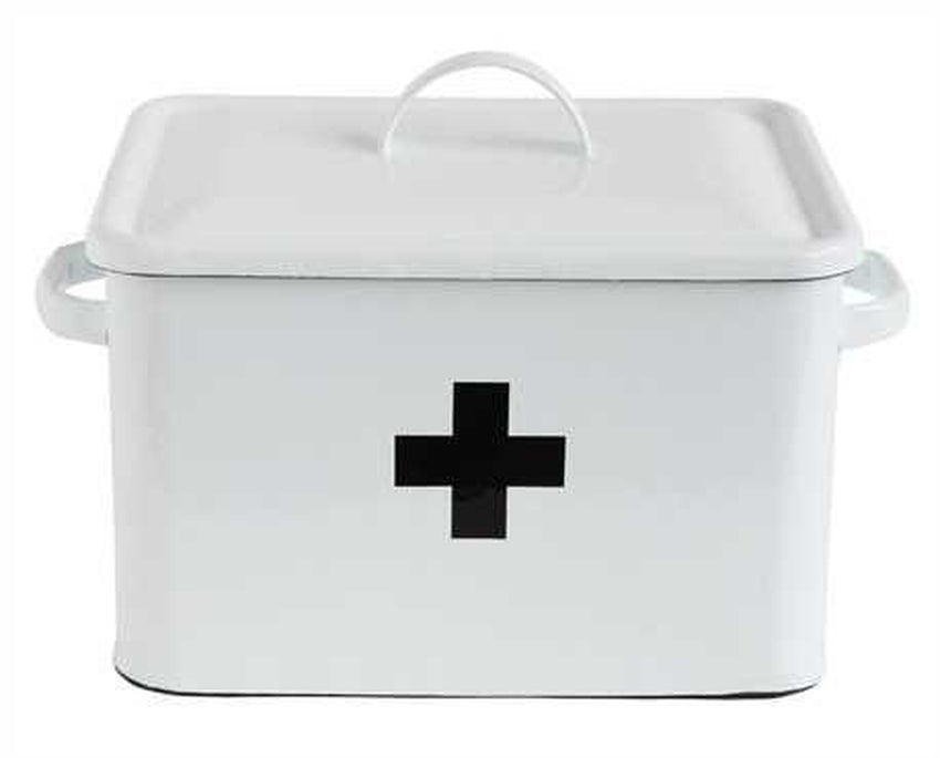 Enamel Swiss Cross Box - Cloth + Cabin