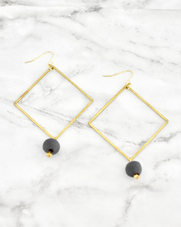 Eleena Square Earrings - Cloth + Cabin