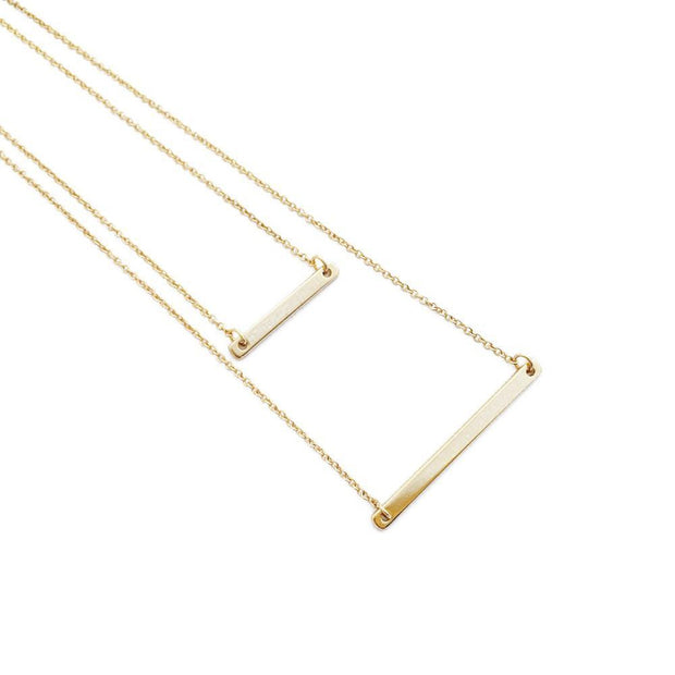 Double Layer Bar Necklace - Cloth + Cabin