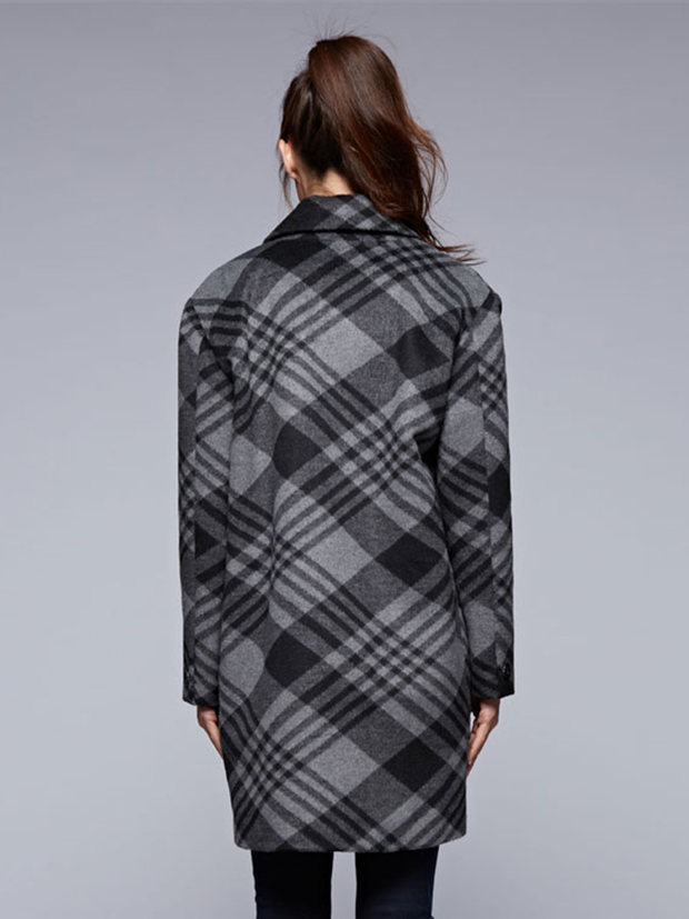 FINAL SALE - Stella Plaid Trench Coat - Cloth + Cabin