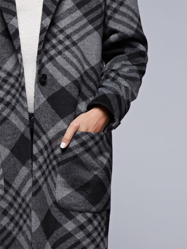 Stella Plaid Trench Coat