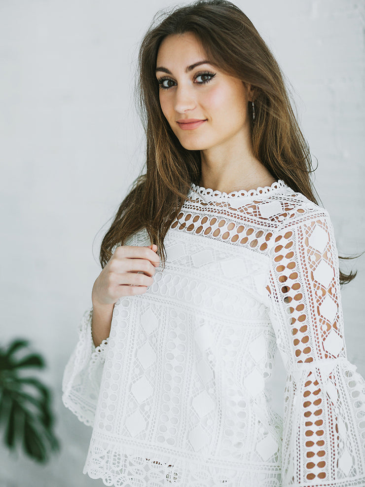 Willow Lace Sleeve Top - Cloth + Cabin