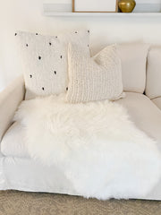 Tinsley Ivory Knit Pillow