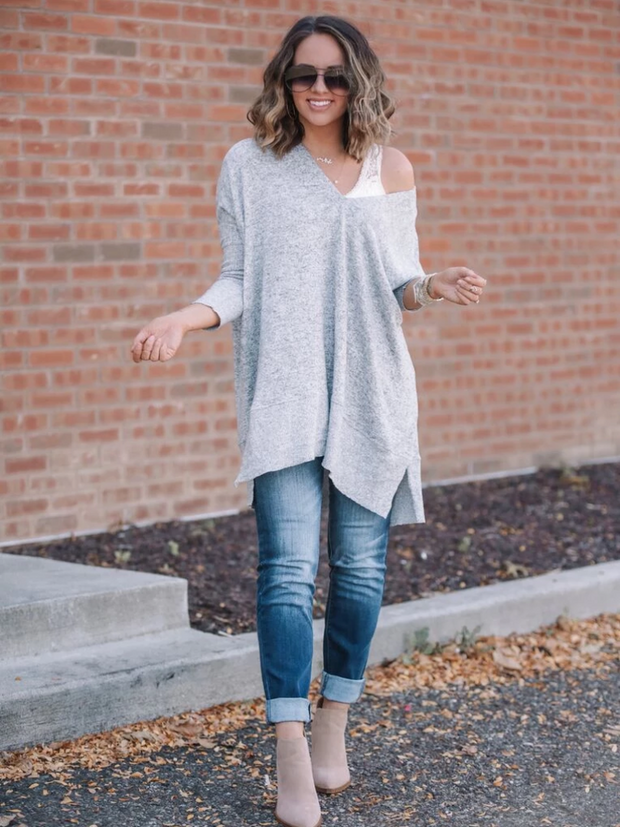 Layla Oversized Brushed Tunic [Pre-Order] - Cloth + Cabin