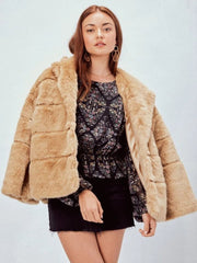FINAL SALE - Vintage Faux Fur Mink Coat - Cloth + Cabin