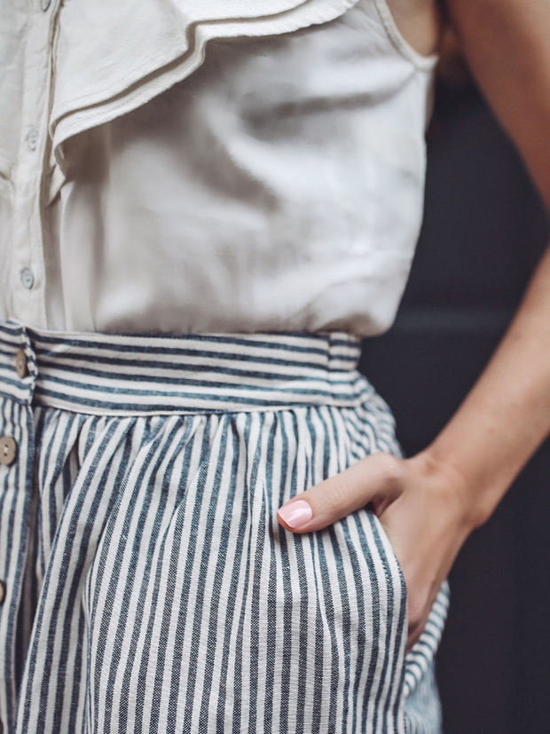 Lucy Striped Skirt - Cloth + Cabin
