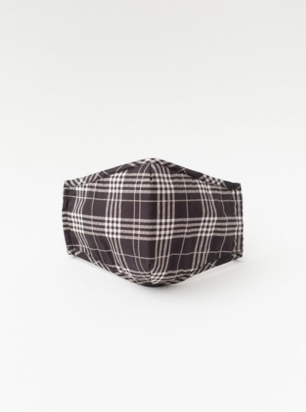 Black Plaid Facemask - Cloth + Cabin