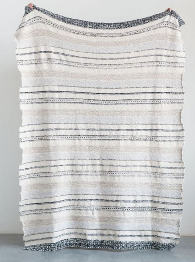 Karla Neutral StripedThrow - Cloth + Cabin