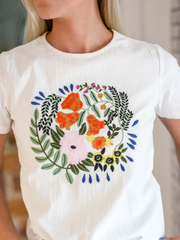 Lexi Embroidered Tee - Cloth + Cabin
