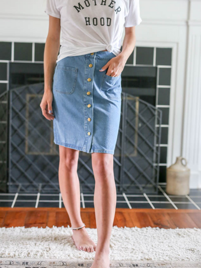 Kate Denim Skirt - Cloth + Cabin