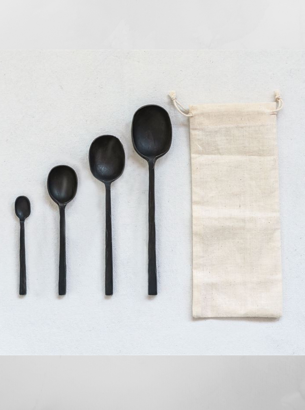 Black Serving Spoon Set