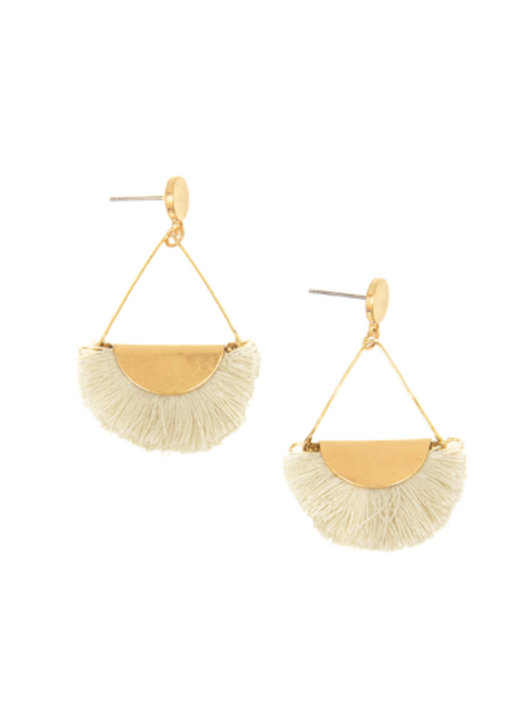 Vivian Fringe Earrings - Cloth + Cabin