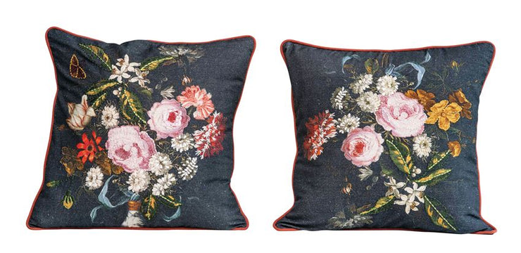Erin Floral Embroidered Pillows - Cloth + Cabin