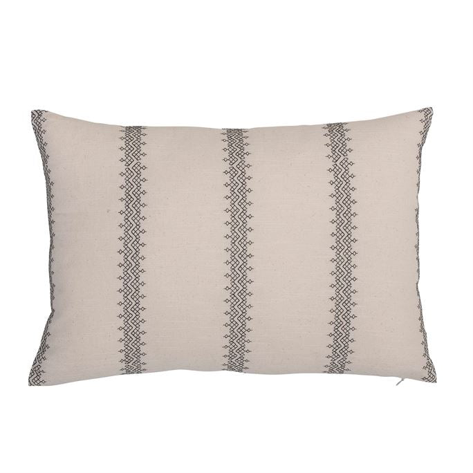 Scarlett Embroidered Lumbar Pillow - Cloth + Cabin