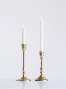 Brass Candlesticks / Set of 2 - Cloth + Cabin