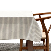 Grey Striped Tablecloth
