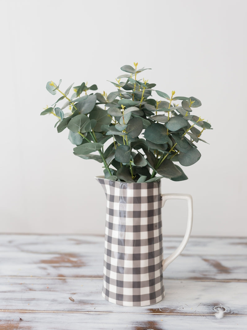 Gingham Pitcher - Cloth + Cabin