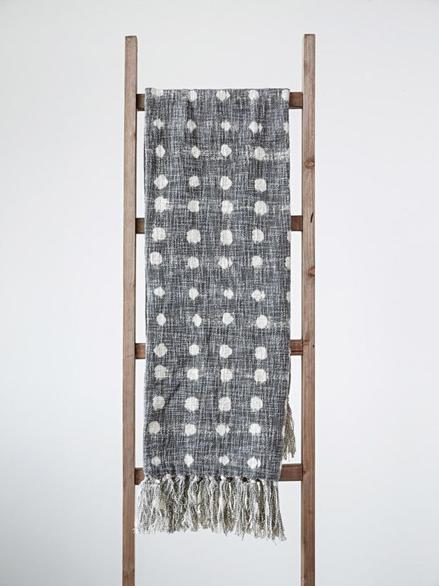 Meg Polka Dot Tassel Throw - Cloth + Cabin