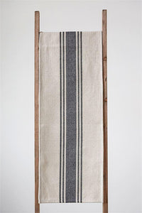 Canvas Stripe Table Runner - Cloth + Cabin