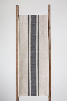 Canvas Stripe Table Runner