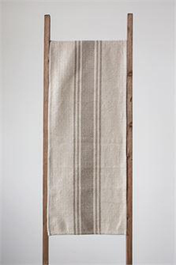 Canvas Stripe Table Runner / 2 Colors