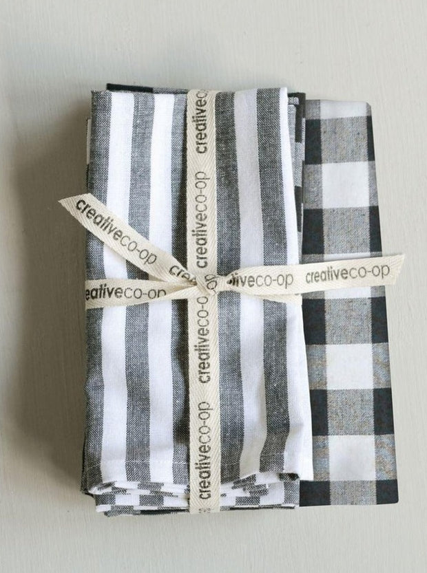 Gingham + Stripe Napkin Set - Cloth + Cabin