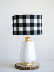 Buffalo Check Ceramic Lamp - Cloth + Cabin