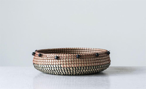 Black Beaded Basket - Cloth + Cabin
