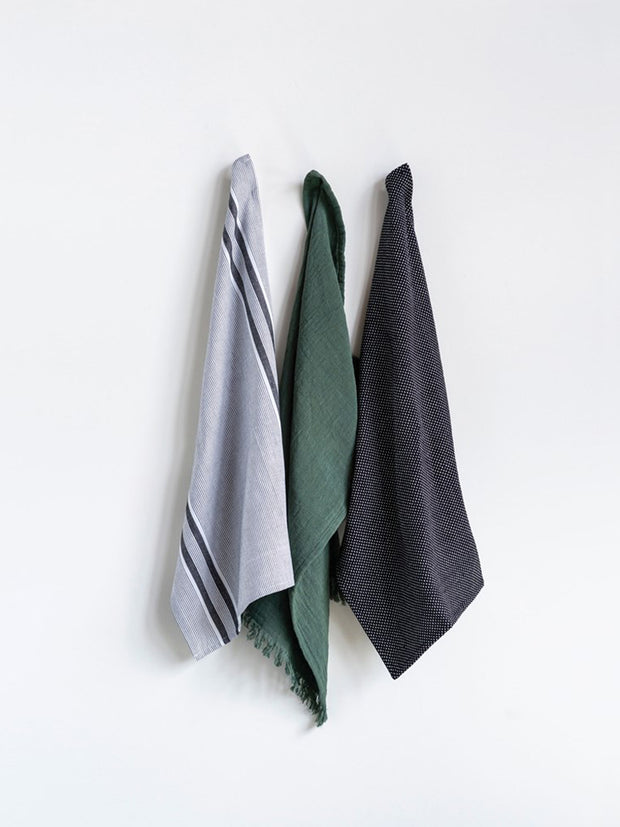 Emerald Tea Towels - Cloth + Cabin