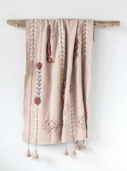 Harmony Embroidered Throw - Cloth + Cabin