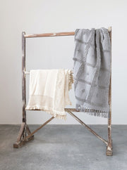 Finley Knit Ruffle Throw - Cloth + Cabin