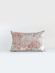 Eliza Distressed Print Lumbar Pillow - Cloth + Cabin