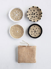 Hand-Woven Natural Seagrass Coasters - Cloth + Cabin