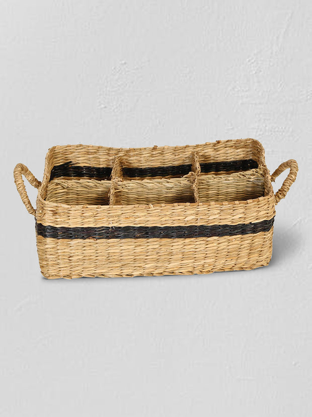 Hand-Woven Seagrass Storage Basket - Cloth + Cabin