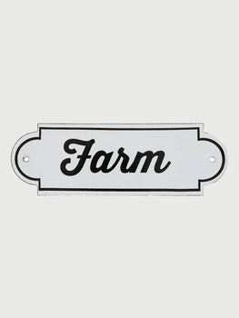 Enamel Farm Sign - Cloth + Cabin
