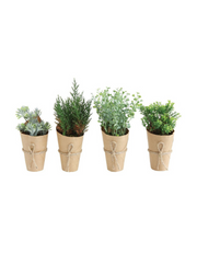 Faux Potted Plants / Set of 4 - Cloth + Cabin