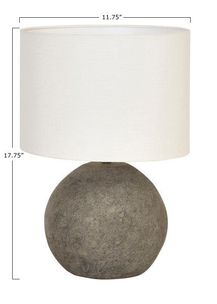 Terracotta Table Lamp with Canvas Shade - Cloth + Cabin