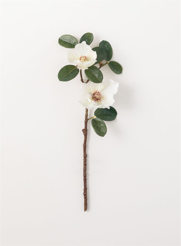 Faux Magnolia Stem - Cloth + Cabin
